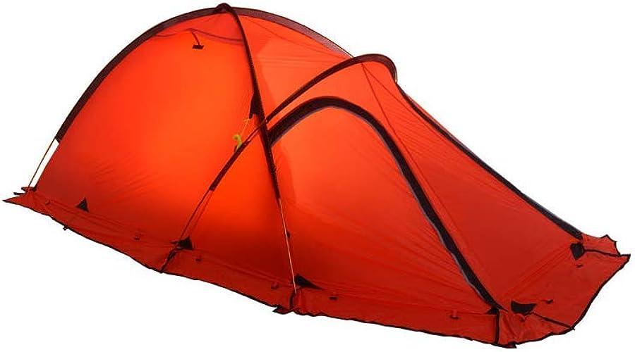 ZSN Tente extérieure de Camping en Gel de silice pour Poteau 3-4 Personnes en Aluminium Ultra-léger,rouge