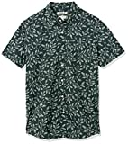 Goodthreads Standard-Fit Short-Sleeve Printed Poplin Shirt Button-Down-Shirts, Skull, S