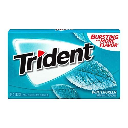 Trident Sugar Free Sales Xylitol Gum Wintergreen Max 89% OFF Box 14-Piece 2 Deal