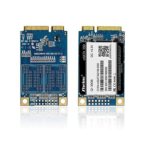 Zheino Q1 mSATA SSD de 30 GB (30 * 50 mm) Interno Memoria mSATA 2D ...