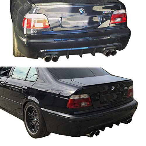 Lasscar REAR Diffuser and Front Lip Hamann Style to M5 Bumper 2pc fit for BMW e39 M5