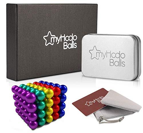 myHodo Magnetkugeln Stresskiller Premium Set, vielseitiges Büro und Technik Gadget, Anti Stress Geschenkidee, 100 Stück Neodym Magnete extra stark 5mm für Kühlschrank Magnettafel, Magnetic Balls