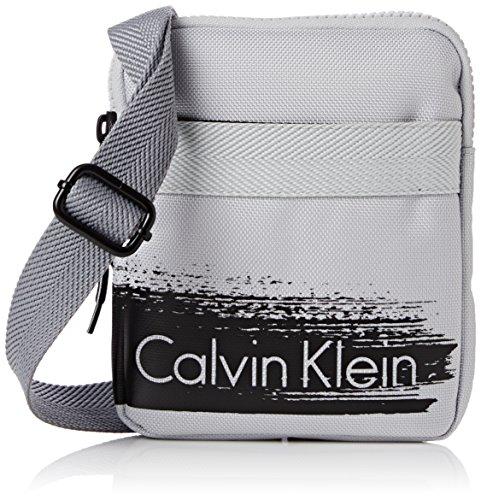 CALVIN KLEIN ACCESSORI Herren Schultertaschen  Cooper Mini Flat Crossover , grau, größe OS