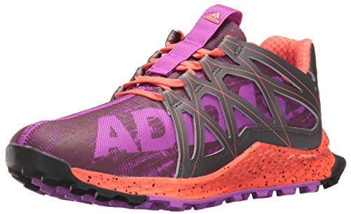 adidas Women's Vigor Bounce w Trail Runner, Shock Purple/Night/Easy Coral, 6 M US