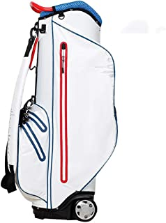 Golf Club Bag, 100% Waterproof, Multi-Color Optional, 410×290×900mm/1350mm happyL (Color : White)