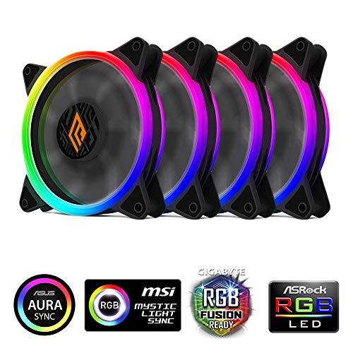 Noua Noob X4 Schwarz Gehäuse ATX PC Gaming 0.55 MM SPCC 3 Lüfter 15 LED Rot mit Netzteil 450 W 80 + Bronze Laterale Full Plexiglass (AxPxL: 450x445x180mm)