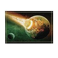 Assanu 発射された小惑星は、宇宙浴用敷物で地球に当たります滑り止め玄関マット玄関屋外屋内正面玄関マットキッズバスマット15.7x23.6inバスルームアクセサリー