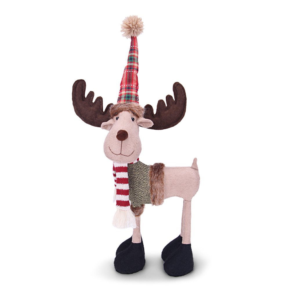 Image of Cute Plush Christmas Reindeer Decoration
