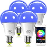 MagicLight Smart WiFi Light Bulb Works with Alexa Google Siri, No Hub Required, E26 A19 7W (60w Equivalent) RGBCW Dimmable Multicolor LED Smart Lights (4Pack)