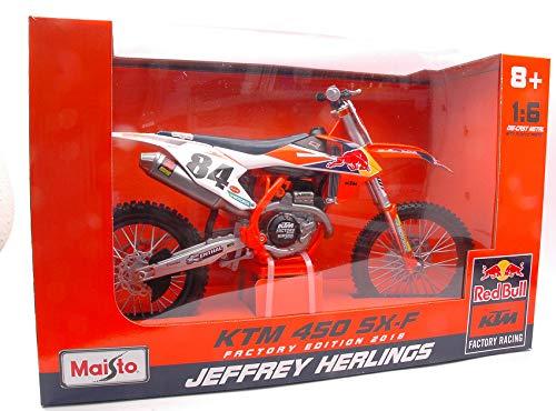 per KTM 450 SX-F N.84 JEFFREY HERLINGS 1:6 - Maisto - Moto - Die Cast - Modellino