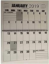 Jumbo Large Print 2019 Wall Calendar 13-Months, 17