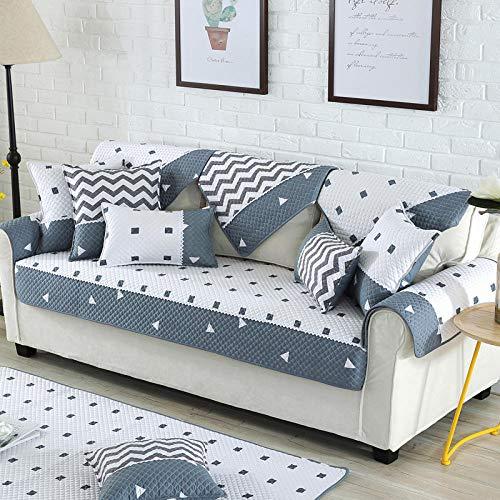 Homeen Fundas de sofá, funda de sofá, salón de algodón suave, funda de sofá de 2/3/4/5 plazas, funda para sofá de tela, funda protectora de sofá de impresión antideslizante - C_90*240cm