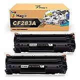 7Magic Reemplazo de Cartucho de tóner Compatible para HP 83A CF283A para HP Laserjet Pro MFP M125NW M125A M126a M126nw M127FW M127FN M128fn M128fw M225DN M225DW M226DN M226DW (2 Negro)