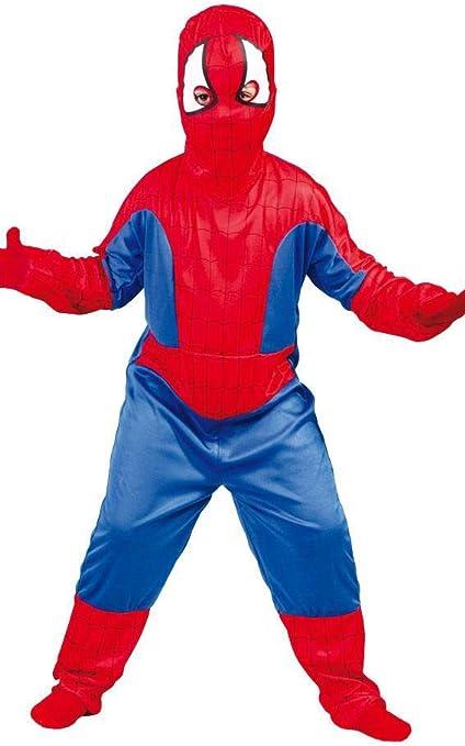 accessori Maschera Busto Muscoloso 5-6 anni Supereroe Spiderman Taglia M Halloween Carnevale Bambini Uomo ragno Idea regalo natale compleanno Costume Bimbo