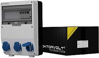 Stromverteiler TD-S/FI 3x230V RCCB 40A 2P Wandverteiler Baustromverteiler Doktorvolt 9023