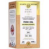 Aqua Biome by Enzymedica, Fish Oil Maximum Strength, Complete Omega 3 Supplement, DHA, EPA, DPA, Non-GMO, 120 Softgels (60 Servings)