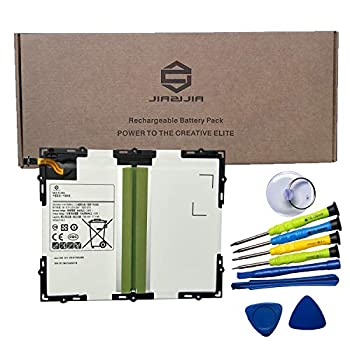 JIAZIJIA EB-BT585ABE Laptop Tablet Battery Replacement for Samsung Galaxy Tab A 10.1 inch 2016 SM-T580 SM-T585 SM-T585C SM-P580 SM-T587 SM-T587P Series EB-BT585ABA Tools 3.8V 27.74Wh 7800mAh
