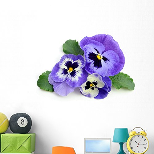 Wallmonkeys Pansy Wall Decal Peel and Stick Floral Graphic (48 in W x 32 in H) WM69583