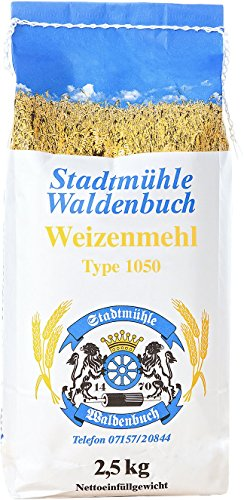 Weizenmehl Type 1050 2,5 kg feinste Bäckerqualität