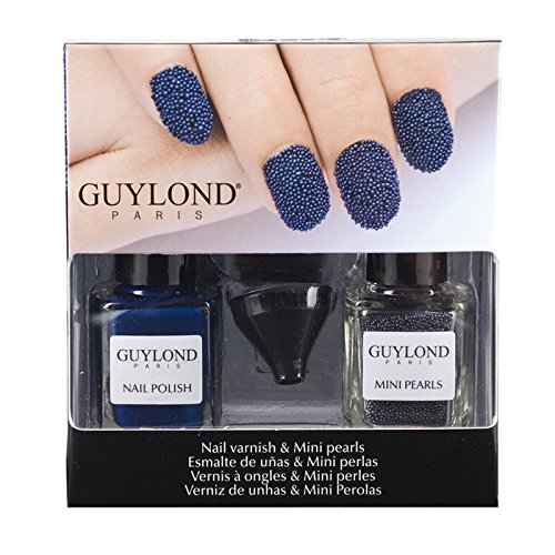 Guylond Blue Nail Artists and Mini Pearls Set, 1er Pack (1 x 10 ml)