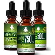 Hemp Oil- Full Spectrum Ultra Premium Hemp Extract - Pure Hemp Seed Oil - Fast Results - Relieve Chronic Pain - Better Sleep - Healthier Skin - Smoother Hair - 750mg - 1oz - Peppermint