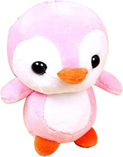 Anniston Kids Toys, Cute Cartoon Penguin Animal Plush Stuffed Doll Hanging Bag Keychain Pendant Dolls & Stuffed Toys Perfect Fun Time Play Activity Gift for Boys Girls, Pink