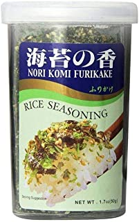 JFC - Nori Komi Furikake (Rice Seasoning) 1.7 Ounce Jar (Pack of 2)
