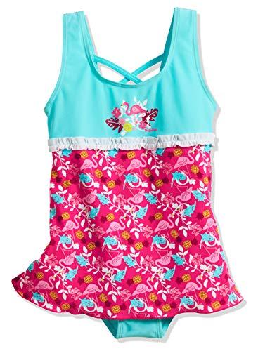 Playshoes Mädchen UV-Schutz Rock Flamingo Badeanzug, Türkis (Türkis 15), 86 (Herstellergröße: 86/92)