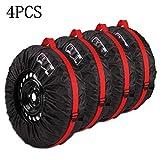Queta Reifentaschen Set,für 13'-16' Zoll große Autoreifen Reifentüten Reifensäcke,mit Reifenposition Aufdruck und Behandeln,Reifen Tasche 4-teiliges Set