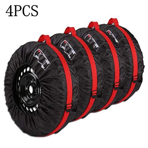 """Queta Reifentaschen Set,für 13\""""-16\"""" Zoll große Autoreifen Reifentüten Reifensäcke,mit Reifenposition Aufdruck und Behandeln,Reifen Tasche 4-teiliges Set"""