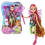 Winx Club Flora | Sirenix Fairy Bubbles Puppe Fee 28 cm | Seifenblasen Magie