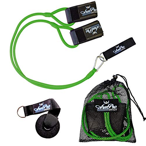 Kinetic Bands Arm Pro Bands Baseball Softball Resistance Training Bands - Arm Strength, Pitching and Conditioning Equipment, Available in 3 Levels (Youth, Advanced, Elite), Anchor Strap, Door Mount