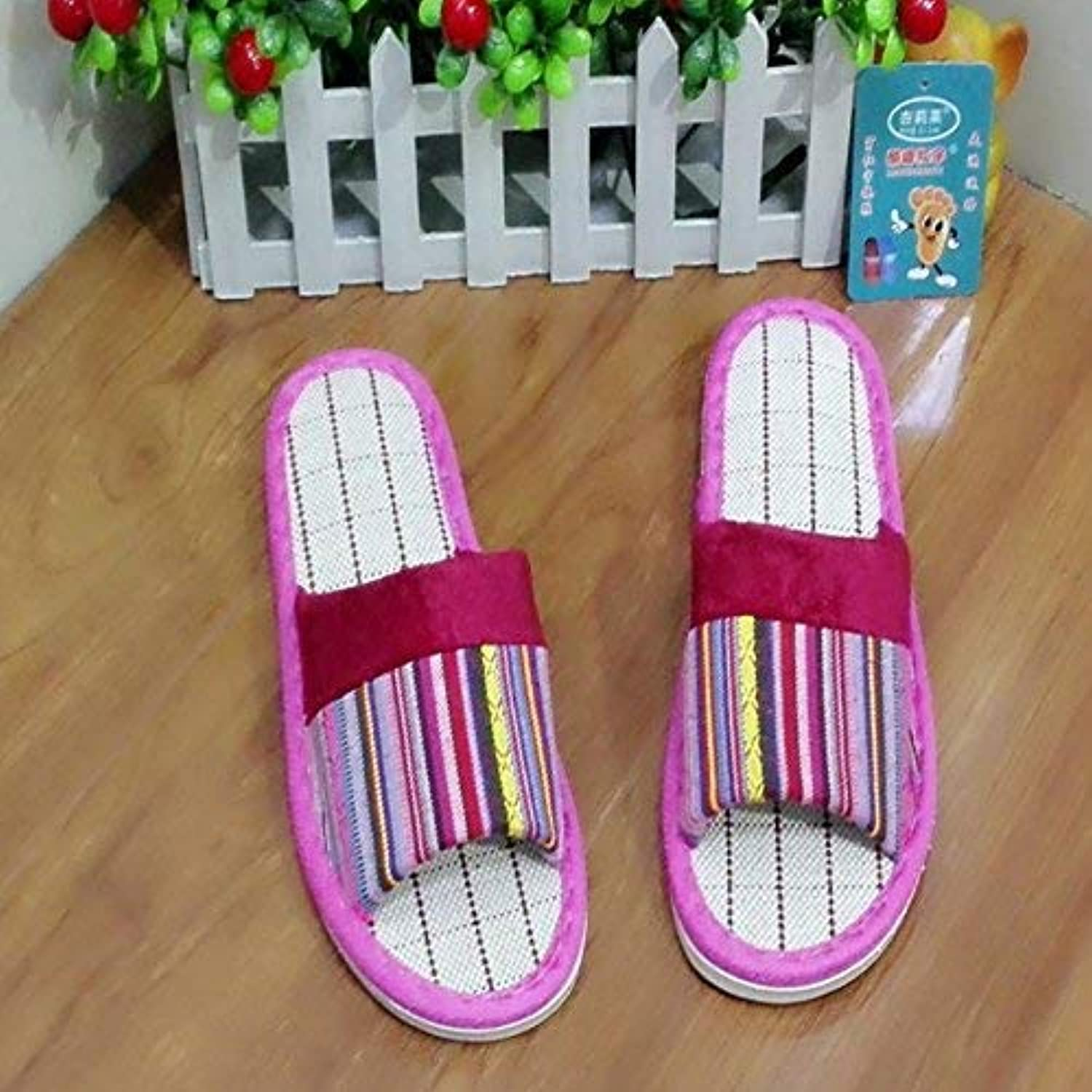 JaHGDU Ladies Fashion Home Interior Leisure Slippers Pink Red Summer Indoor Home Slippers Personality Creativity Quality