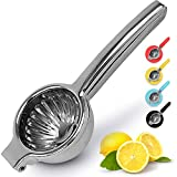 Lemon Squeezer Stainless Steel with Premium Quality Heavy Duty Solid Metal Squeezer Bowl - Large Manual Citrus Press Juicer and Lime Squeezer Stainless Steel - by Zulay Kitchen