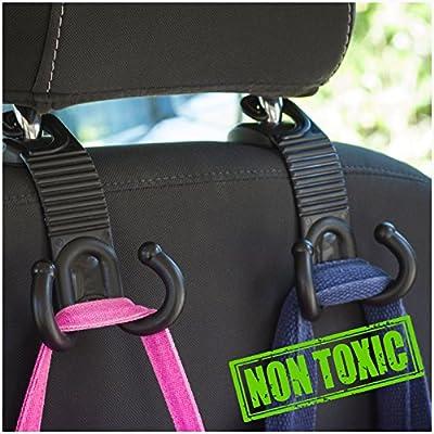 ALLTOOLS Car Hooks Back Seat Headrest Hanger Holder Hang Purse Grocery Bag Handbag Cloth Coat Universal Vehicle Storage Organizer Behind Over The Seat Car Accessories for Women Men by Alltools