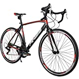 Merax Finiss Road Bike Aluminum 21 Speed 700C Racing Bicycle (Red & Black, 52 cm)