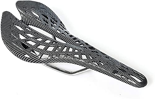 JZTOL Edición De Patrón De Fibra De Carbono |Asiento De Bicicleta |Sillín De Bicicletas |Carretera |Montaña |MTB |BMX |Conmutador |Peso Ligero |Gris Negro (Color : Black+Gray)