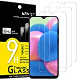 NEW'C 3 Unidades, Protector de Pantalla para Samsung Galaxy A30s, A40s, Antiarañazos, Antihuellas, Sin Burbujas, Dureza 9H, 0.33 mm Ultra Transparente, Vidrio Templado Ultra Resistente