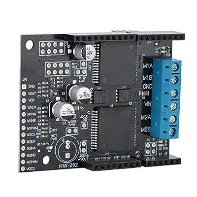 ASHATA DC Motor Drive Module Board,NH5019 Dual-Channel DC Motor Drive Module Board,30A High Current Self-Voltage Protection