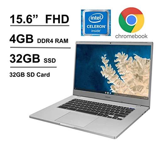 "2020 Newest Samsung Chromebook 4 15.6"" FHD Non-Touch Laptop for Business Student, Intel Celeron N4000, 4GB RAM, 32GB Storage + Oydisen 32GB SD Card, Webcam, WiFi, Chrome OS (Google Classroom Ready)"