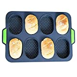 Silicone Baguette Pan Hot Dog Molds Non-stick French Bread Loaf Baking Mould, Toast Cooking Bakers...