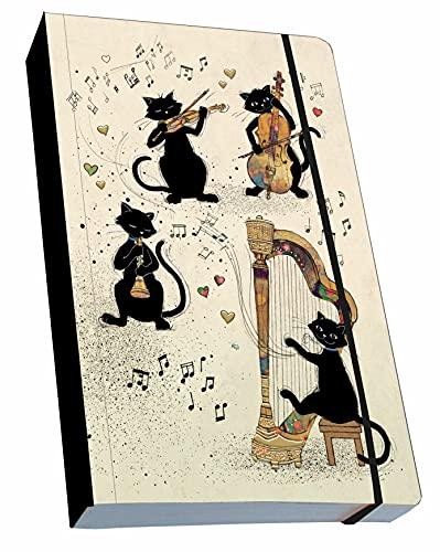 KIUB Nota libro flexible A6 gato Música