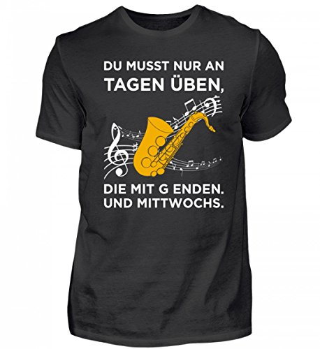 Hoogwaardig herenshirt – perfect voor saxofoon spelers!
