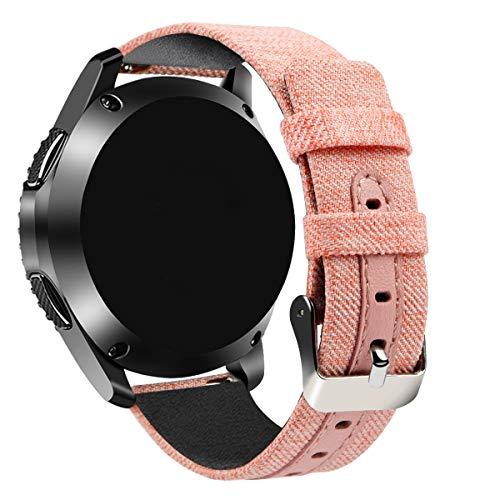 Tarask Armband kompatibel mit Huawei Watch GT/GT 2e / GT 2 (46mm) Armband Sportarmband Band Erstatzband mit Schließe (22mm, Rosa)