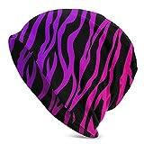 XCNGG Sombreros Gorras Skullies Gorros Knit Beanie Hat Zebras Print Skull Cap Skiing Windproof Warm Beanie Hat for Men Women