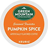 Green Mountain Coffee, Pumpkin Spice, Single-Serve Keurig K-Cup Pods, Light Roast Coffee, 48 Count (2 Boxes of 24 Pods)