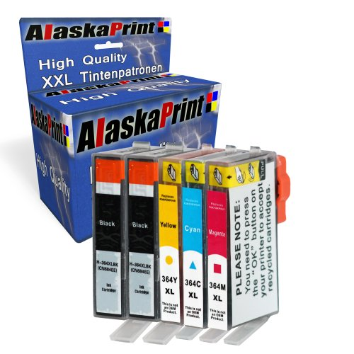 Printercartridge comp. Met HP 364 XL 364XL voor HP Photosmart 5510 e-All-in-One 5511 5512 5514 5515 5520 5522 5524 5525 6510 6520 6512 6515 6525 7510 7520 7515 B8550 B8553 B8558 C5370 C5373 C5324 C5383 B109f B109n B209a B210a printer inktcartridge inktcartridge set van 5
