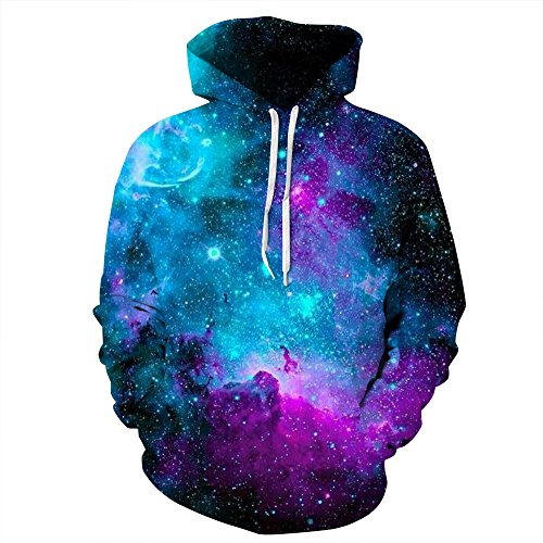 AMOMA Jungen Digitaldruck Kapuzenpullover Tops Fashion Hoodie Pullover Hooded Sweatshirt(Large/12-13 Jahren,Interstellar)
