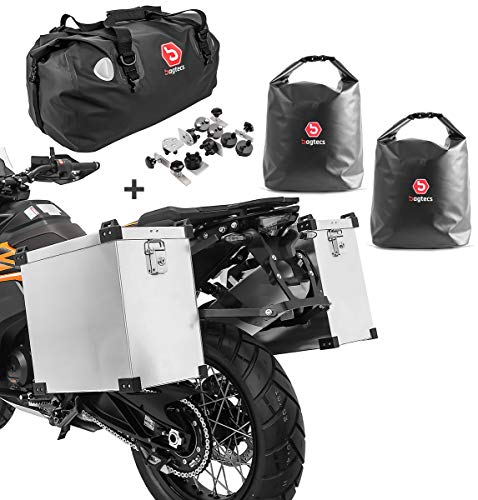 Bagtecs Set aluminium panniers Namib 2x40L + tail bag + inner bags +fixation kit