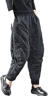 ANJUNIE Women Vintage Retro Harem Pants Cotton Linen Baggy Pocket Long Trousers Pants